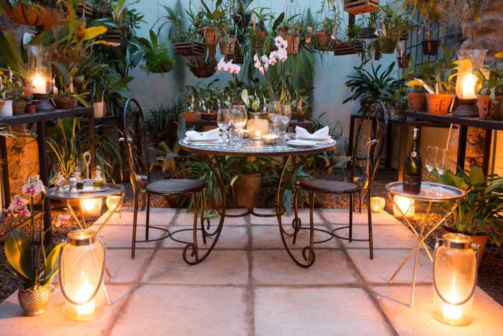 Diner romantique au Giraffe Manor