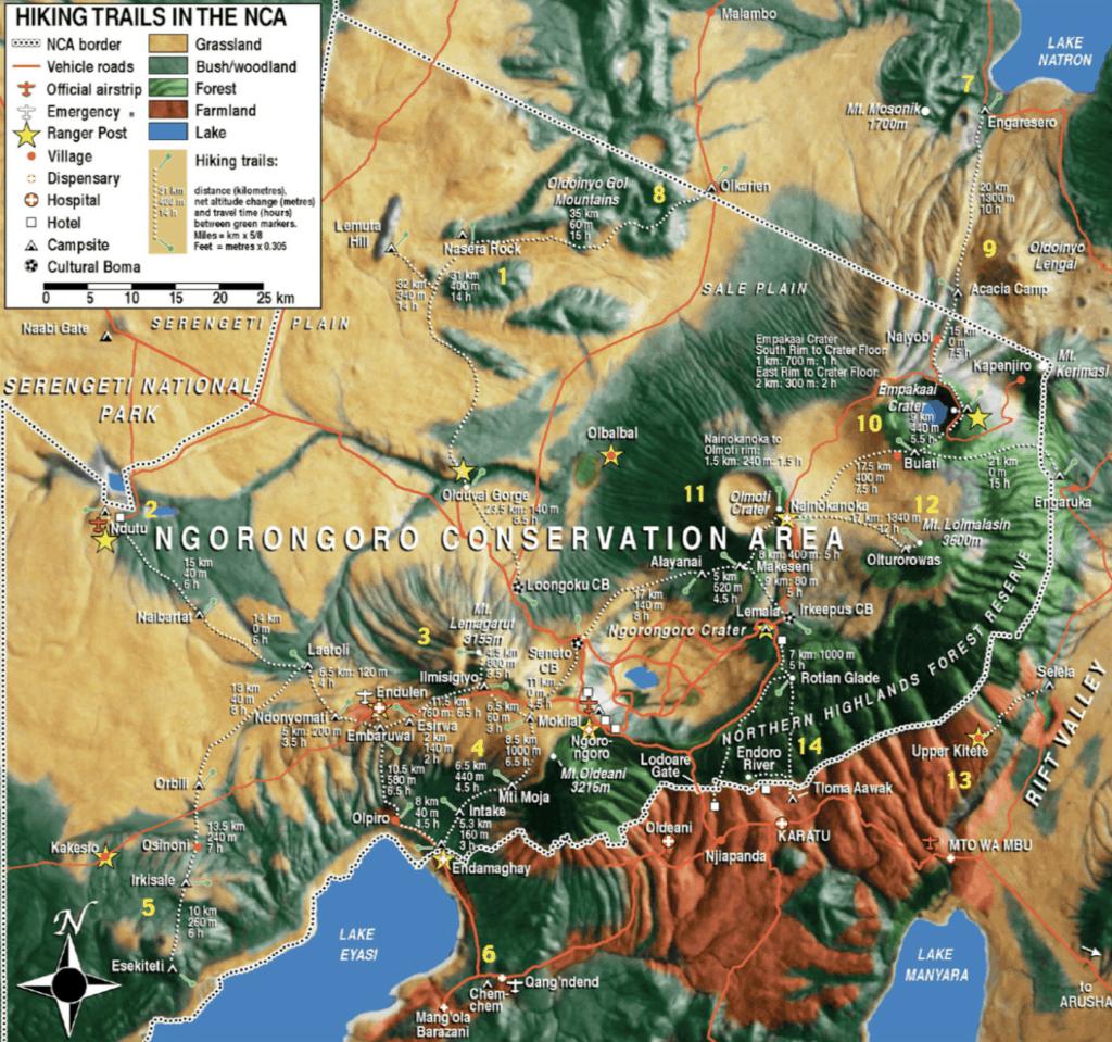 Carte Ngorongoro
